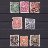 MEXICO 1885, Sc# 165-172, CV $171, Part set, MH/Used