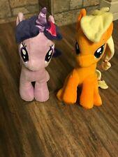 My Little Pony MLP Twilight Apple jack  Plush  Unicorn Lot of 2 To19L28c