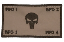 Flak Plate Carrier USMC ID w/Fastener (PUNISHER): Custom Embroidery Patch (V2)