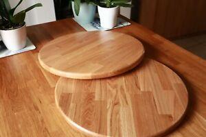 Round Table Tops. Solid Oak, Iroko, Beech, Walnut. 70cm, 60cm, 50cm, 40cm, 30cm