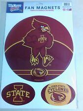"NCAA IOWA STATE CYCLONES MAGNETS 10 1/2"" & TWO 4 1/2"" X 3"" BRAND NEW NICE !"