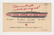 ADVERTISING POSTCARDS DRUGS CODEINE PHOSPHATE 1951 DR CHARLES SIMPSON, CLEVELAND