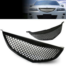 Fit 03-05 Mazda 6 PLASTIC BLACK HONEYCOMB MESH FRONT HOOD GRILL GRILLE