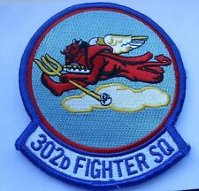 RAF/USAF   squadron  cloth patch  302D FIGHTER SQ