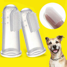 2pcs Pet Dog Cat Soft Finger Toothbrush Dental Care Massage Teeth Clean Brush