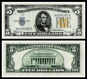 1934A $5 NORTH AFRICA SILVER CERTIFICA~ ~XF