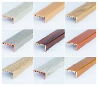UPVC WOOD EFFECT STAIR EDGE NOSING -TRIM- EDGING NOSING 45 x 22mm