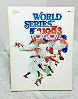 World Series 1983 Official Program Baltimore Orioles Philadelphia Phillies