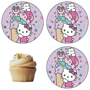 Hello Kitty Katze Eßbar Tortenaufleger Party Deko Tortenbild Geburtstag Muffin