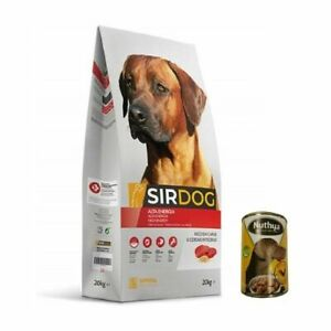 Food Dogs Adults High Activity SIRDOG 20kg Plus Can Food Wet Free