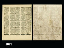 Yemen 1926,-5b Black on White laid $7000,Replica