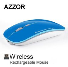 Wireless Slimline Optical Mouse Rechargeable 2.4GHz (Blue) (Brand New)