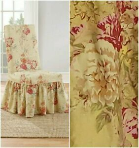 Sure Fit Ballad Bouquet  dining Chair Slipcover TEA STAIN NEW