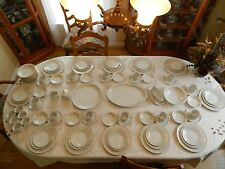"Amcrest China ""Dubarry"" Service for 12 with 6 Serving Pieces"