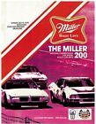 1975  Miller High Life 200  Race Program Milwaukee