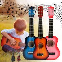 21'' Guitare Tilleul Acoustique Instrument Debutants 6 Cordes Musique Cadeau