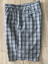 Apt. 9 Bermuda Shorts Men's Size 38 Blue White Plaid Flat Front Casual Cotton