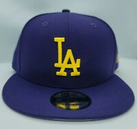 NEW ERA 9FIFTY SNAPBACK HAT.  MLB.  LOS ANGELES DODGERS.  PURPLE.