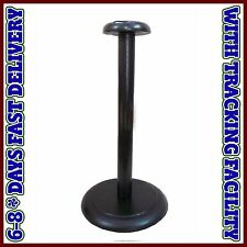 Wood Helmet Stand For Medieval Armour Helmets Wooden Display Post Black Finish