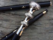 Brass Designer Victorian Handle Wooden Vintage Walking Cane Antique Style Stick