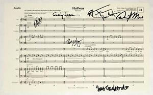 AMELIE Broadway Music Team, Savvy Crawford, Phillipa Soo Signed Sheet Music