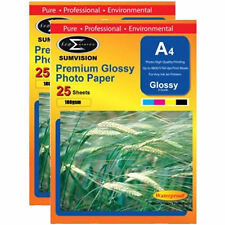 50 Sheets Pack Inkjet Photo Print Paper Sumvision A4 Premium White Glossy 180gsm