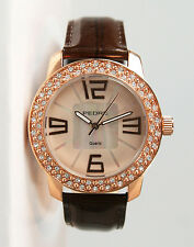 Pedre Women's Rose Gold-Tone Pave Fashion Watch 6745RX. New and unworn.