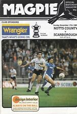 NOTTS COUNTY V SCARBOROUGH ~ FA CUP 1ST ROUND ~ 17 NOVEMBER 1985