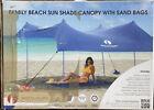 Red Suricata Family Beach Sunshade Sun Shade Canopy GREY Size Medium 7 x 7