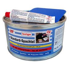 2 kg Dose 2K Standard Füllspachtel beige Spachtelmasse Auto + Härter + Spachtel