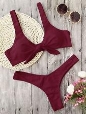 2018 Women Swimwear Bandage Summer Beach Bikini Set Push-up Padded Bra Swimsuits White1 XXS