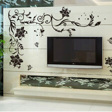 Black Flower Decoration Wall Sticker Home Decor Living Room Wall Decoration、UK