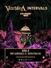 Veil Of Maya / Intervals 2019 Ft Lauderdale Concert Tour Poster- Metalcore Music