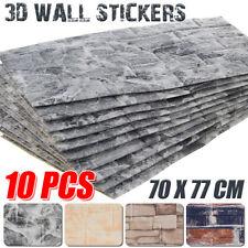10 Tlg 3D Tapete Wandpaneele Selbstklebend Ziegelstein Wasserfest Wandaufkleber