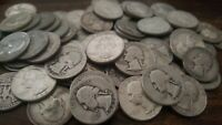 Silver Washington Quarter - Readable Dates  - NO bent, holed, slick, or corroded