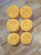6 Golden Yellow -  NYLON NET POT SCRUBBIES