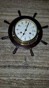 Schatz Royal Marine Wind Up With The Key Ship Clock