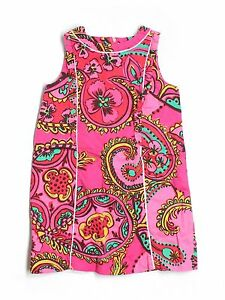 Girl Lilly Pulitzer Follow The Pink Road Paisley Shift Dress Size 6
