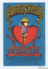 Bill Graham 136 Postcard Ad Back Big Brother & the Holding Santana 1968 Sep 19