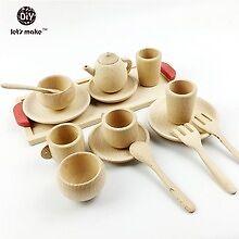 Reggio Emilia Kid's Supplies for the Classroom or Home - Wooden Tea Set