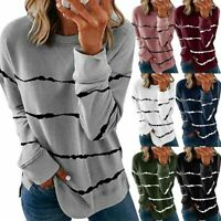 Womens Ladies Pullover Plus Size Sweater Jumper Casual Long Sleeve Tops Shirts