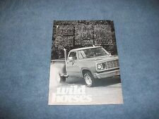 """1978 Dodge D-150 'Lil Red Express Pickup Truck Info Article """"Wild Horses"""""""