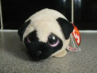 TY TEENY Candy the Adorable Pug Soft Toy Plush Teddy - New with Tags - 10cm