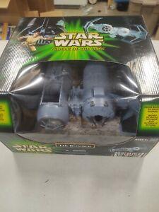 New IN BOX Hasbro Star Wars Power of the Jedi Tie Bomber Vehicle w/pilot