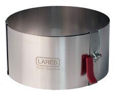 LARES Tortenring verstellb. ca. 10 - 18 cm mit Klemmhebel  H. 7 cm