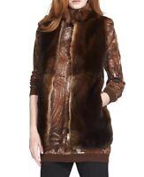 New Max Mara 'Samovar' Genuine Rabbit Fur Vest Size 8 MSRP $3990