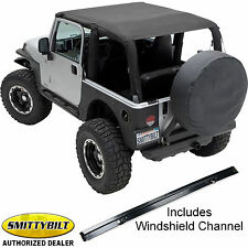 Smittybilt Extended Top and Windshield Channel for 97-06 Jeep Wrangler TJ 2 Door