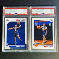 2019 Zion Williamson Panini NBA Hoops & Tribute RC's PSA 9 (2 Slab Set) Pelicans