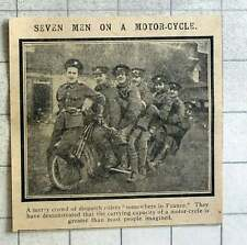 1915 Seven Men On A Motorcycle Somewhere In France