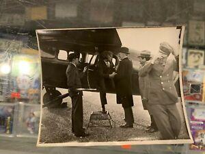 1930'S CHARLES LINDBERG & SPIRIT OF ST. LOUIS PLANE 4X5 ORIGINAL PHOTO TWA